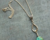 Artisan, OOAK, Handmade, Turquoise and Sterling Silver Pendant Necklace