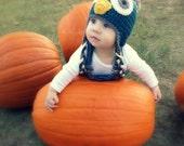 Crochet Baby Owl Hat for Baby Boys