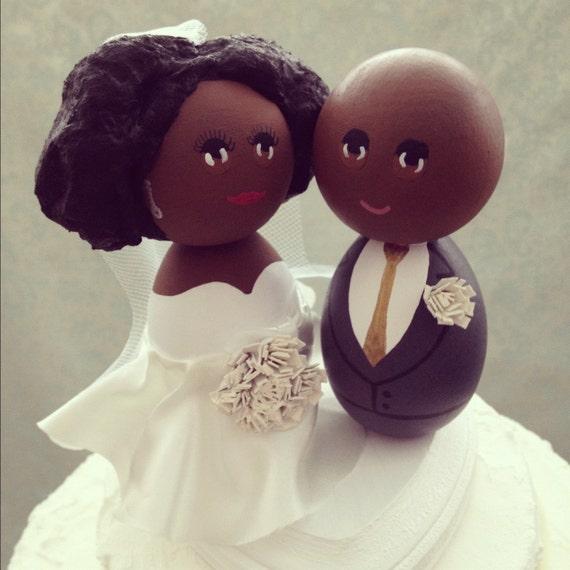 Custom African American Wedding Cake Topper Every By DSMeeBee