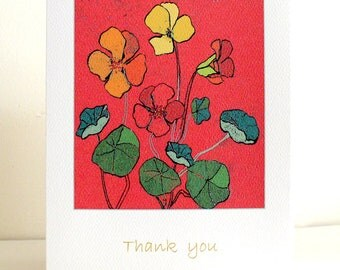Thank you -  Note Card - Art Card - Nastrutim -Gift Set Available