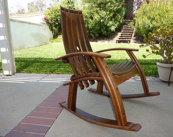 Wine barrel rocking chair us 1250 00 tcbarrelworks