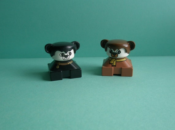 Vintage Lego Duplo Figures Dog And Bear By Girlystuffbydejavu