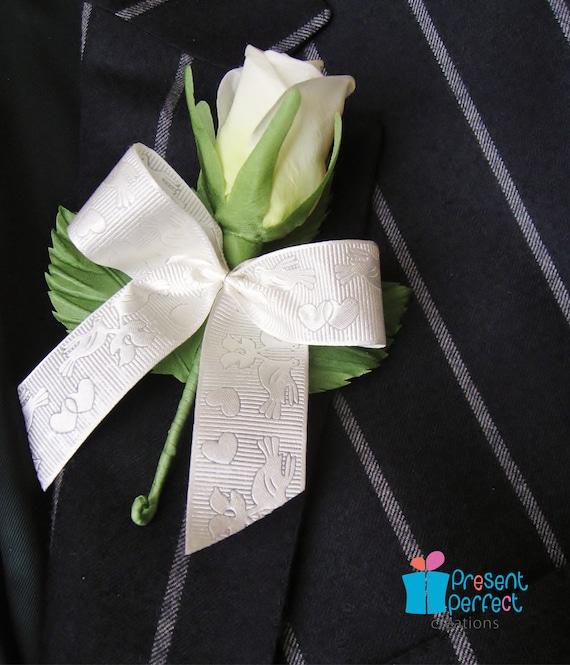 SALE lapel pin rose, wedding buttonhole, rose buttonhole, grooms boutonniere UK shop