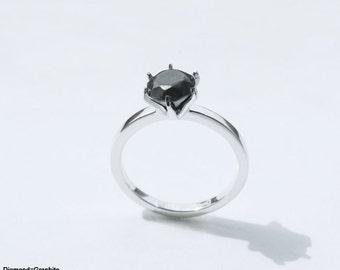 Diamond:Graphite ring (diamond-less diamond ring series ver.1)