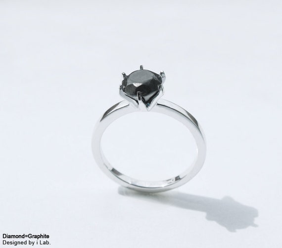 Diamond:Graphite ring (diamond-less diamond ring series ver.1)
