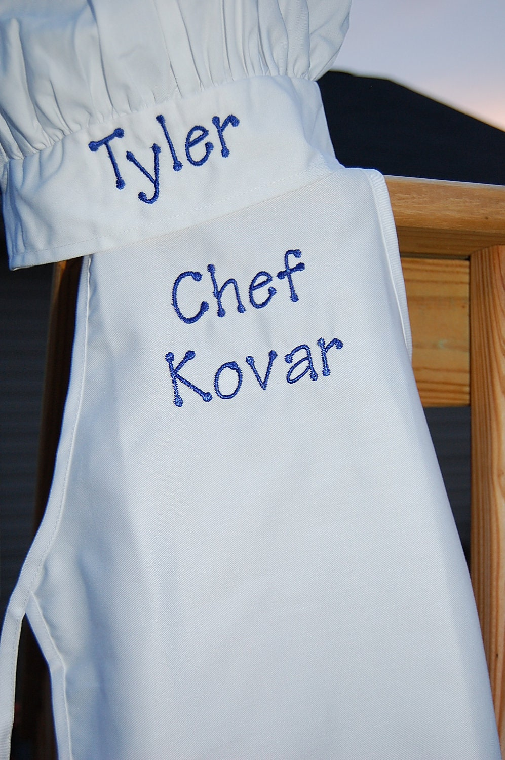 personalized toddler child chef hat and apron by sewbyl on etsy. Black Bedroom Furniture Sets. Home Design Ideas