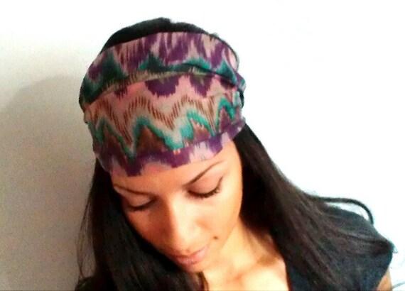 Chevron Chiffon Zigzag Headband