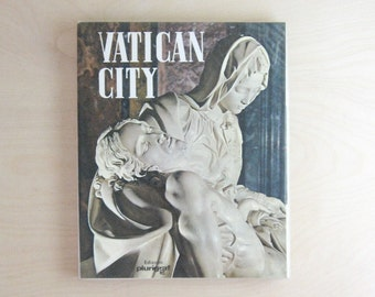 Vatican City - Vintage Tour Guide Book Color Photography - Rome Italy Travel Book - Vatican Souvenir - Travel Guide Book - Coffee Table Book