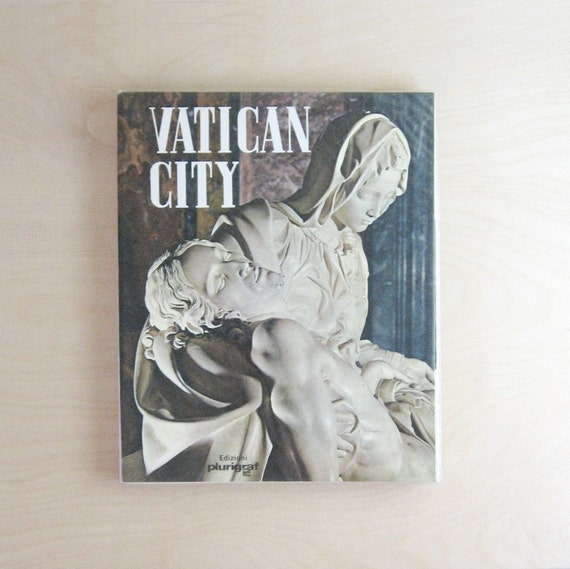 Vatican City - Vintage Tour Guide Book Color Photography - Rome Italy Travel Book - Vatican Souvenir - Travel Guide Book - Coffee Table Book