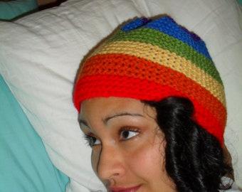 Rainbow Knit Hat