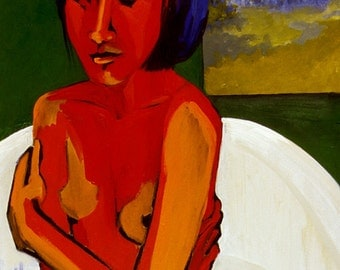 Painting - Thoughts  In The Tub    236