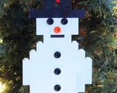 LEGO Build-it Kit Snowman Christmas Ornament - ornaments4charity
