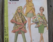 Vintage Sewing Pattern - McCall's 2337 circa 1970 Misses Circle Cape ONE SIZE