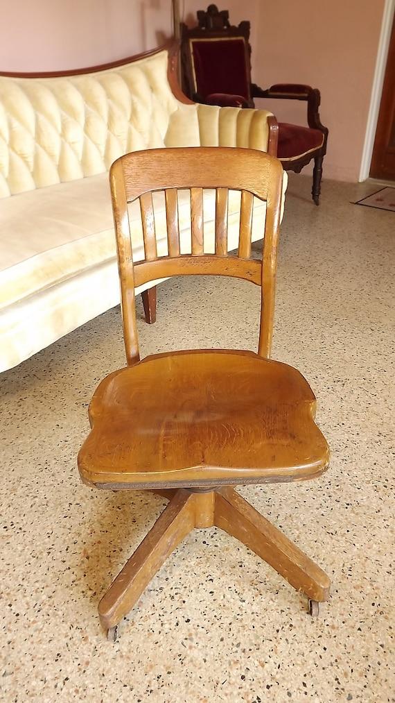 antique vintage oak wood adjustable desk office chair b l marble co antique oak office chair