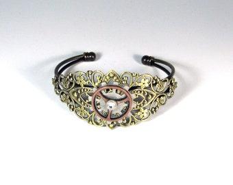 Steampunk Gear Bracelet  ( Made to order)