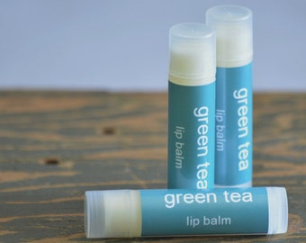 SALE - Green Tea Lip Balm - tea lip balm - drink lip balm - sweet lip balm - food lip balm - light flavor lip balm