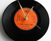 """Johnny Cash Vinyl Record CLOCK """"A Thing Called Love"""" 7"""" single. Unique gift for Country Music fans everywhere..."""