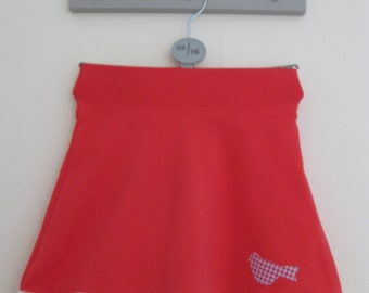 Nice jersey skirt with applications -size 110/116-