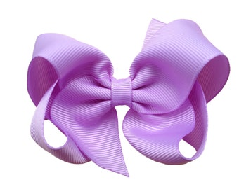 4 inch light purple hair bow - purple bow, boutique bow, pinwheel bow