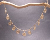 """Necklace 264 Hammered swirls on chain, about 18"""""""
