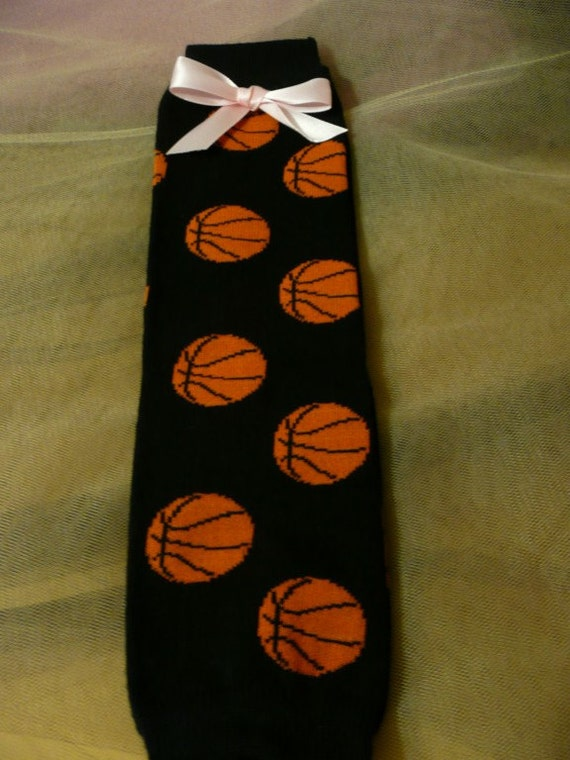 Black With Basketball Print Leg Warmer And By ...