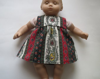 "American Girl Bitty Baby 15"" doll French Paisley Dress"