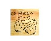 Man Cave Sign or Beer Book  - Notebook Wood Burnt or Wall Hanging - Custom Work