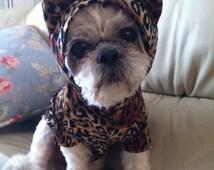 Dog cheetah costume by FiercePetFashion