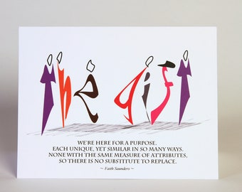 The Gift, Birthday, Anniversary, Retirement, Empowerment Card, Unique Quote, Thank You Blank Note Card