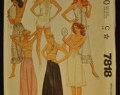 Misses' Petticoats, Half Slips, Camisole and Panties Size Medium Uncut Vintage 1980s Sewing Pattern-McCall's 7818