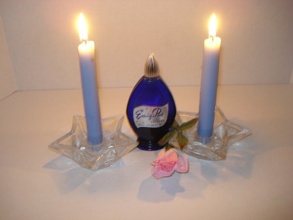 Vintage Bottle Cobalt Blue EVENING IN PARIS  Cologne