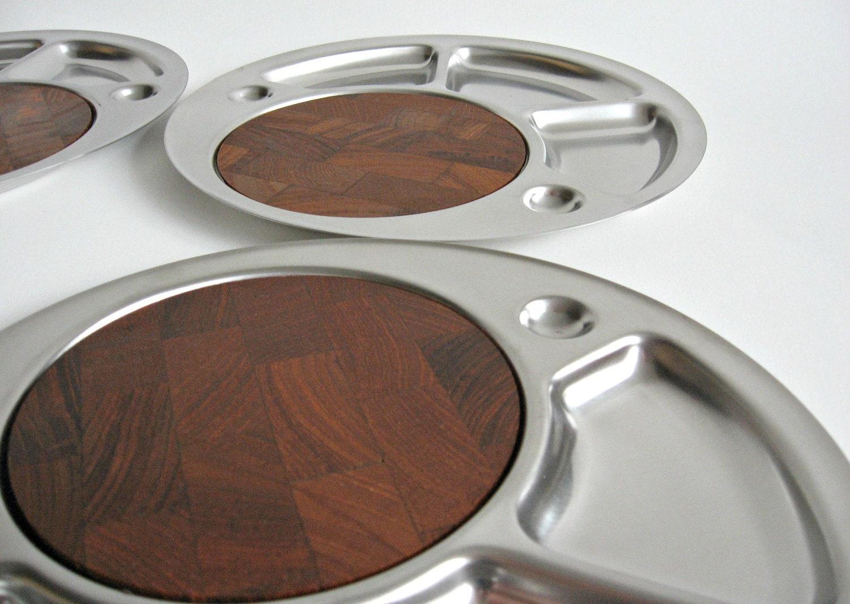 danish modern stelton stainless steel and teak grill fondue. Black Bedroom Furniture Sets. Home Design Ideas