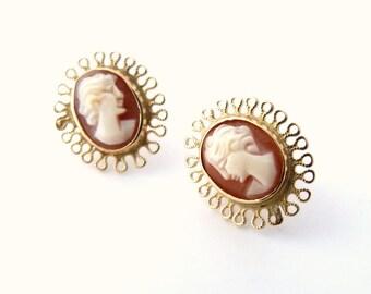 Kiri Cameo Earrings