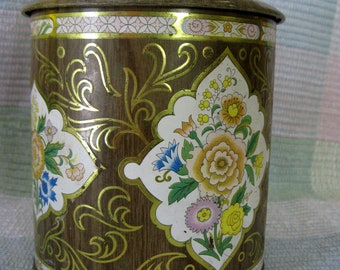Vintage Daher Collectible Confectionery Candy Tin Lidded Box