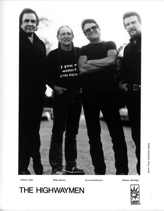 The Highwaymen Publicity Photo-8 by 10 inches