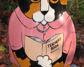 Teacher calico Kitty vase Cats By Nina wonderful gift for teacher