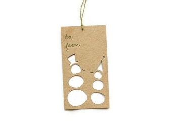 Christmas Gift Tags: Snowmen Tags--Custom Color