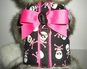 Hot Pink Bones and Skulls - Dog Harness