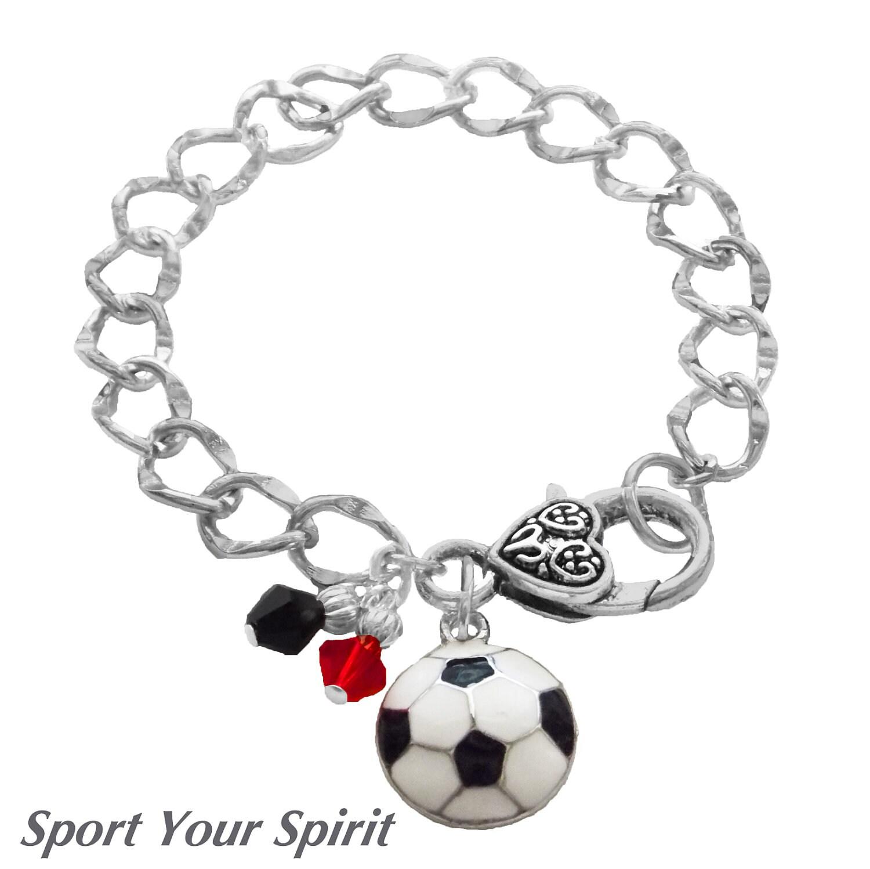 personalized soccer bracelet team color swarovski bracelet