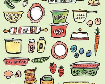 Cute Kitchen Art Print