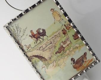 KID'S Night Light - Storybook Farm -  Vintage Image Nightlight - Nursery Gift N07