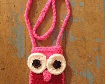 Pattern for Owl Cell Phone Holder or Wallet Necklace