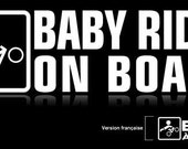"Baby  on board sticker - Mountain bike - (8"" x 2.33"")"