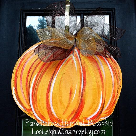 Pumpkin Front Door: Thanksgiving Hanging Pumpkins Door Decorations Page Two