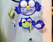 Owl Mobile with Baby Birds for Nursery