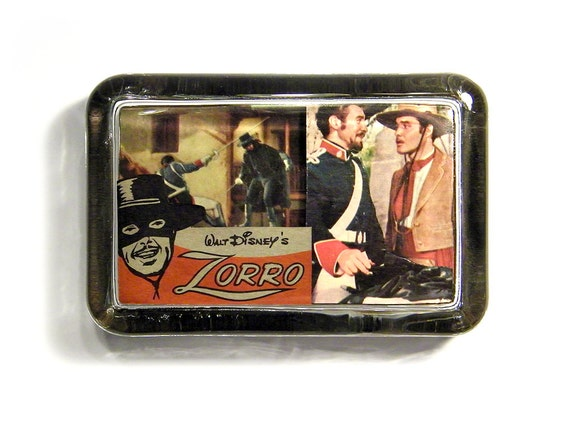 3D Zorro Walt Disney Collage Glass Paperweight