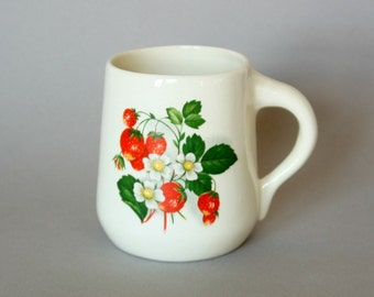 Vintage Strawberry Ceramic Mug