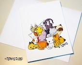 Pile of Kitties Card - Cat Kitty - birthday anniversary congratulations anything - ReLove Plan.et Art Print
