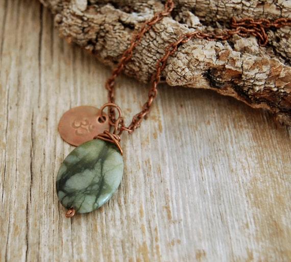 love and purity - heart chakra jewelry - chakra pendant - yoga necklace - jade gemstone pendant