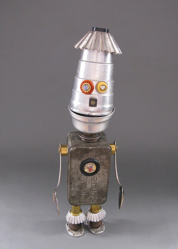 Reserved for Donna - Found Object ROBOT SCULPTURE - Mr. Bee Bee King